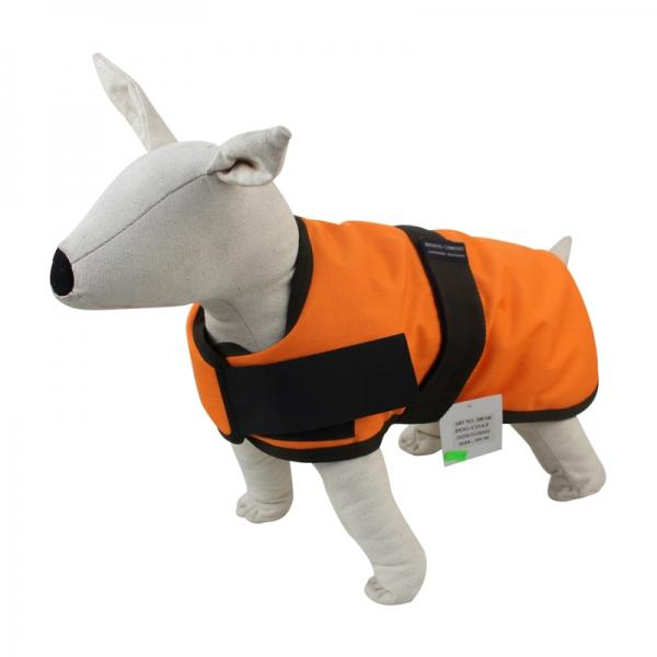 Dog Coat 45 cm orange/schwarz