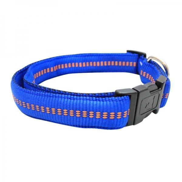 Koch Halsband mit Klickverschluss gepolstert blau