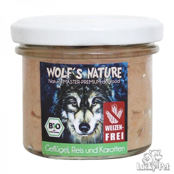 Wolf's Nature Nassfutter Geflügel, Reis, Karotte