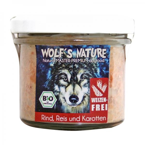 Wolf's Nature Nassfutter Rind, Reis, Karotte